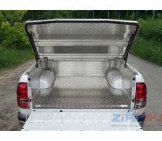Toyota Hilux 2015- Защитный алюминиевый вкладыш в кузов автомобиля (без борта) ( компл ) Артикул: TOYHILUX15-22