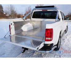 Volkswagen Amarok 2016- Защитный алюминиевый вкладыш в кузов автомобиля (комплект) ( шт ) Артикул: VWAMAR17-04
