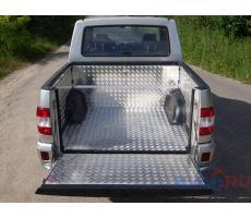 UAZ Pickup 2015- Защитный алюминиевый вкладыш в кузов автомобиля на пластик (комплект) ( компл ) Артикул: UAZPIC2016-07