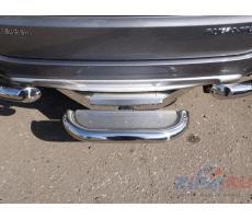 Mitsubishi Pajero Sport 2016 Задняя подножка (нерж. лист) 60,3 мм (под фаркоп) ( шт ) Артикул: MITPASPOR16-27