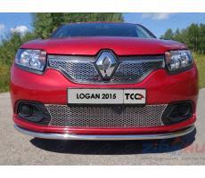 Renault Logan 2014- Решетка радиатора верхняя (лист) ( шт ) Артикул: RENLOG15-02