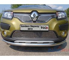 Renault Sandero Stepway 2014- Решетка радиатора верхняя (лист) ( компл ) Артикул: RENSANST15-04