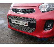 Kia Picanto 2015- Решетка радиатора средняя (лист) ( шт ) Артикул: KIAPIC15-01