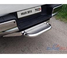 Toyota Hilux 2015- Задняя подножка (нерж. лист) 60,3 мм (под фаркоп) ( шт ) Артикул: TOYHILUX15-45