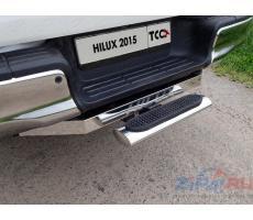 Toyota Hilux 2015- Задняя подножка овальная 120х60 мм (под фаркоп) ( шт ) Артикул: TOYHILUX15-44