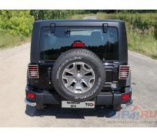 Jeep Wrangler 3D (3,6) 2006- Защита задних фонарей (зеркальная) ( шт ) Артикул: JEEPWRAN3D(3.6)14-13
