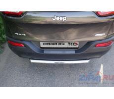 Jeep Cherokee (Traihawk) 2014- Накладка на задний бампер (декоративная) ( компл ) Артикул: JEEPCHERTRAIL14-17