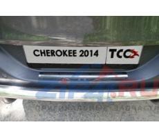Jeep Cherokee (Traihawk) 2014- Накладка на задний бампер (зеркало) ( компл ) Артикул: JEEPCHERTRAIL14-16