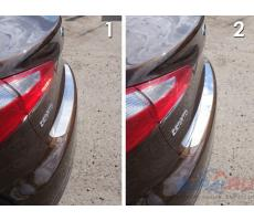 Kia Cerato 2015- Накладка на задний бампер (лист зеркальный) ( шт ) Артикул: KIACER15-03