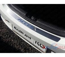 Hyundai Accent 2014- Накладка на задний бампер (лист шлифованный) ( компл ) Артикул: HYUNACC14-06