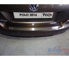 Volkswagen Polo 2016- Накладка на задний бампер (лист шлифованный) ( шт ) Артикул: VWPOLO16-13